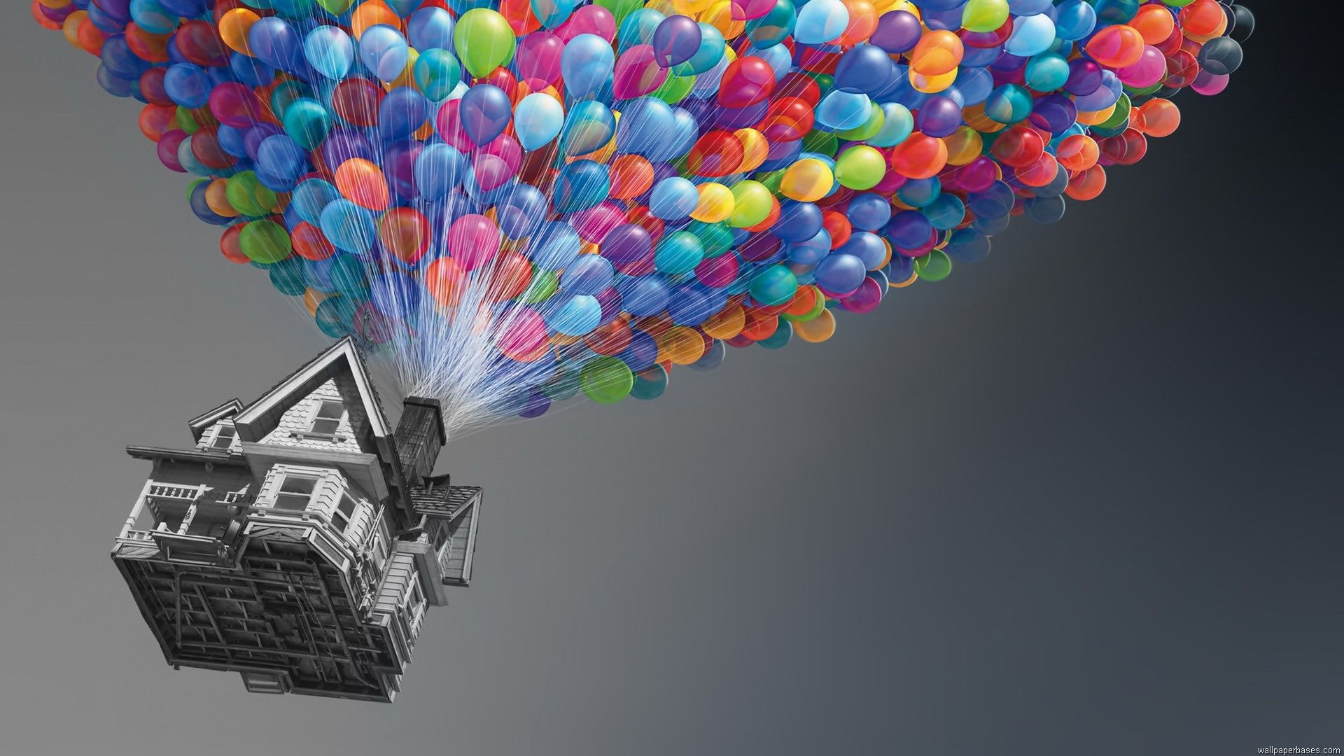 Colorful Up Home With Balloon Wallpaper #3554 Wallpaper