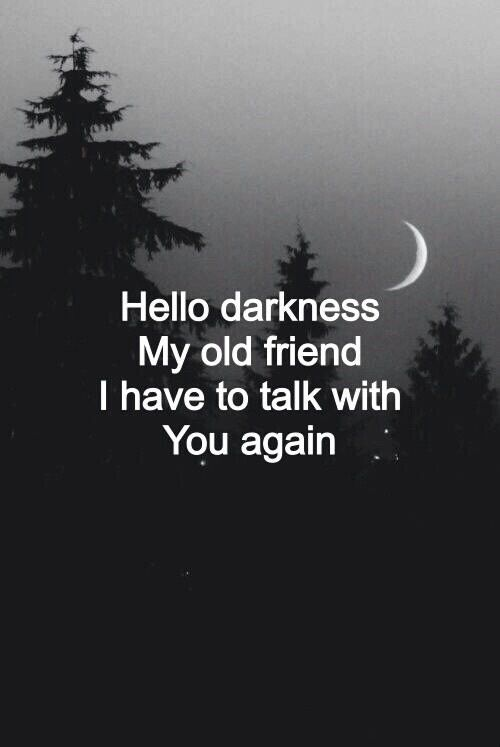 night sky, my dear friend, we must talk