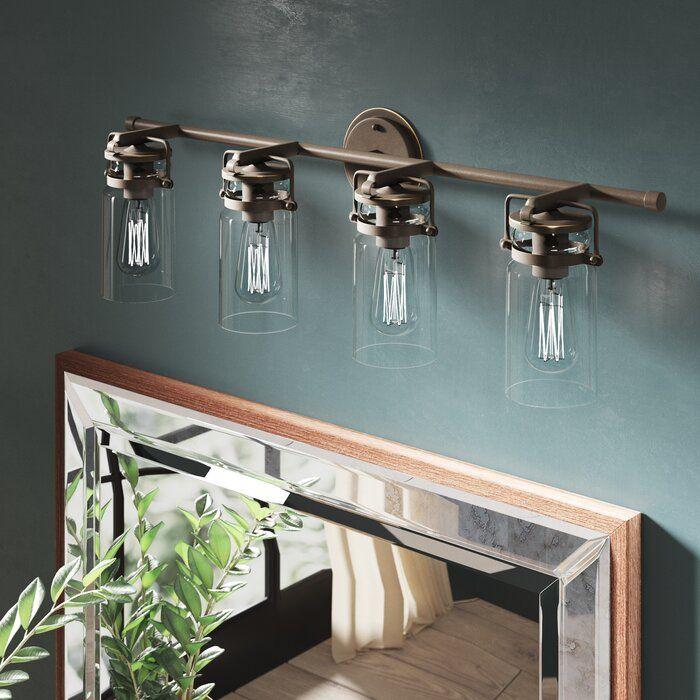 85 Charming Rustic Bedroom Ideas And Designs 4 In 2020: Greyleigh Winder 4-Light Vanity Light