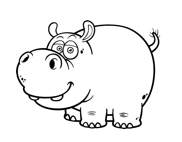 Dibujo de Hipoptamo comn para colorear  Dibujos de Animales