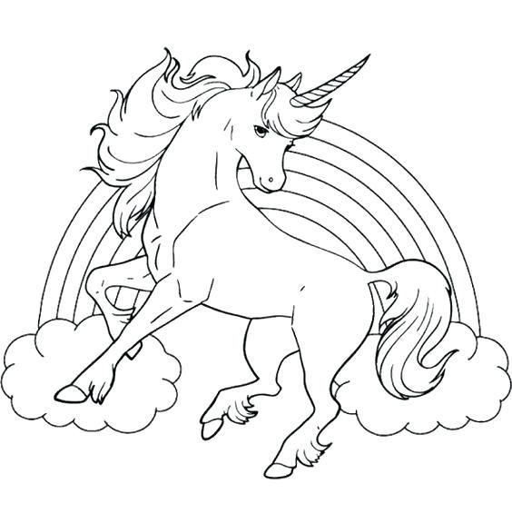 Dibujos De Unicornio Para Colorear Para Dibujos De Unicornios Kawaii
