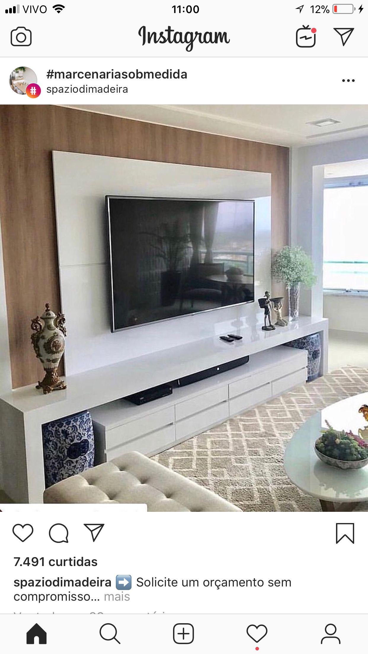 Pin By David Meneces On Tv Moderno: Pin De David Marcos Em Salones Living Room Design