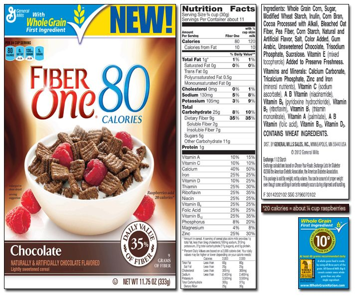Fiber One Cereal 80 Calories Chocolate Cereal. Who Says