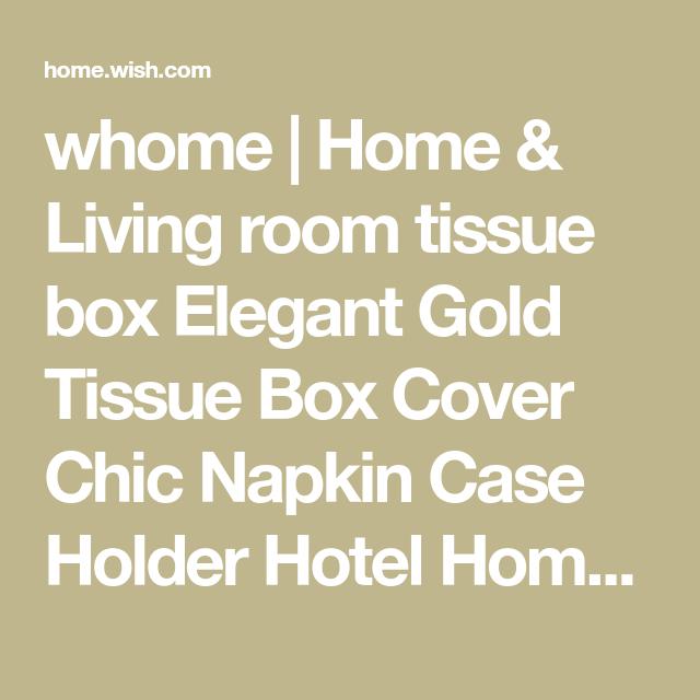 Elegant Napkin Case Holder Gold Tissue Box Cover Chic Hotel Home Decor Organizer