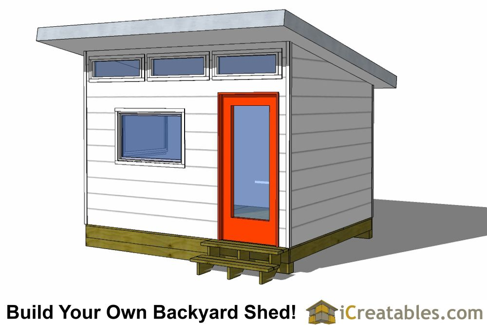 10x12 Studio Shed Plans 10x12 Office Shed Plans Modern Shed In 2020 Modern Shed Shed Plans Shed