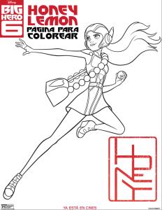 Dibujos Para Colorear 6 Grandes Heroes