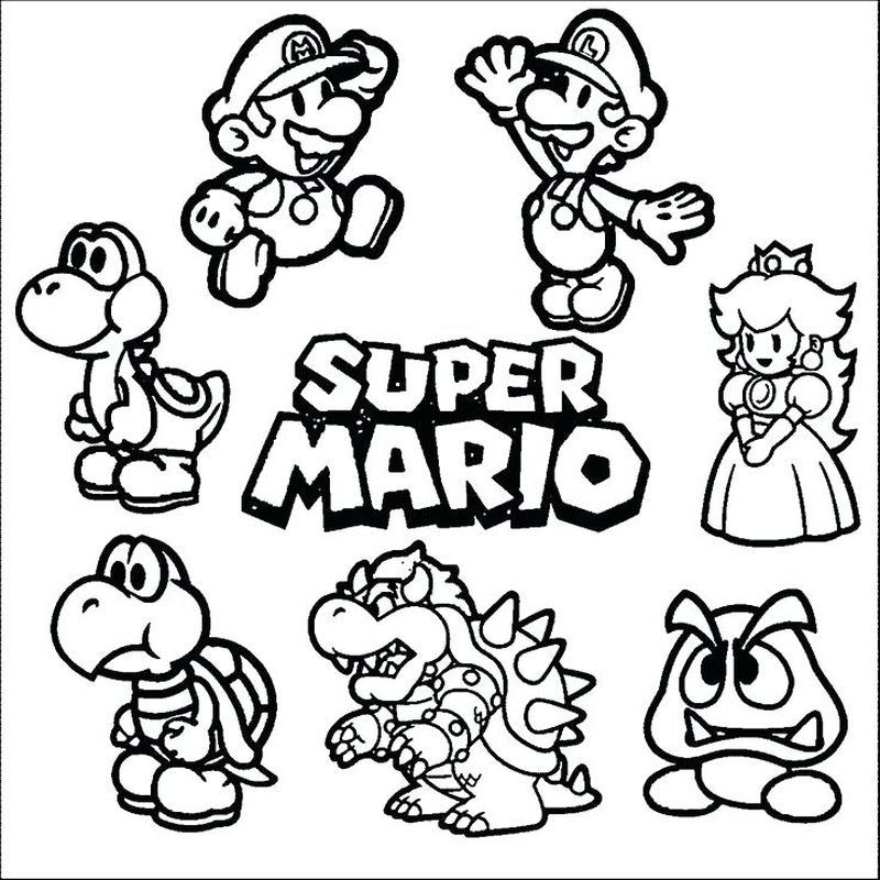 Cute And Complete Super Mario Coloring Pages In 2020 Super Mario Coloring Pages Mario Coloring Pages Super Coloring Pages