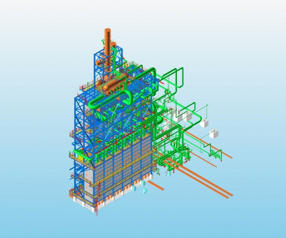 3D piping designing on PDMS for ethylene cracking furnace unit It