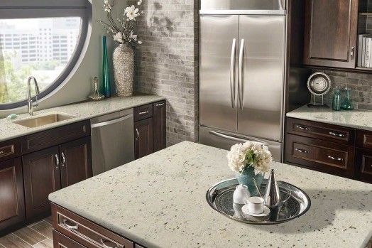 Colonial White Quartz Countertops White Granite Countertops