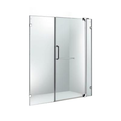 Vigo 54 In X 60 In Adjustable Frameless Pivot Shower Door In