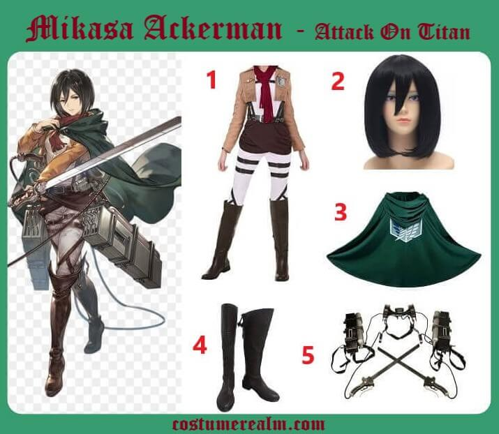 Dress Like Mikasa Ackerman From Attack On Titan, Mikasa ...
