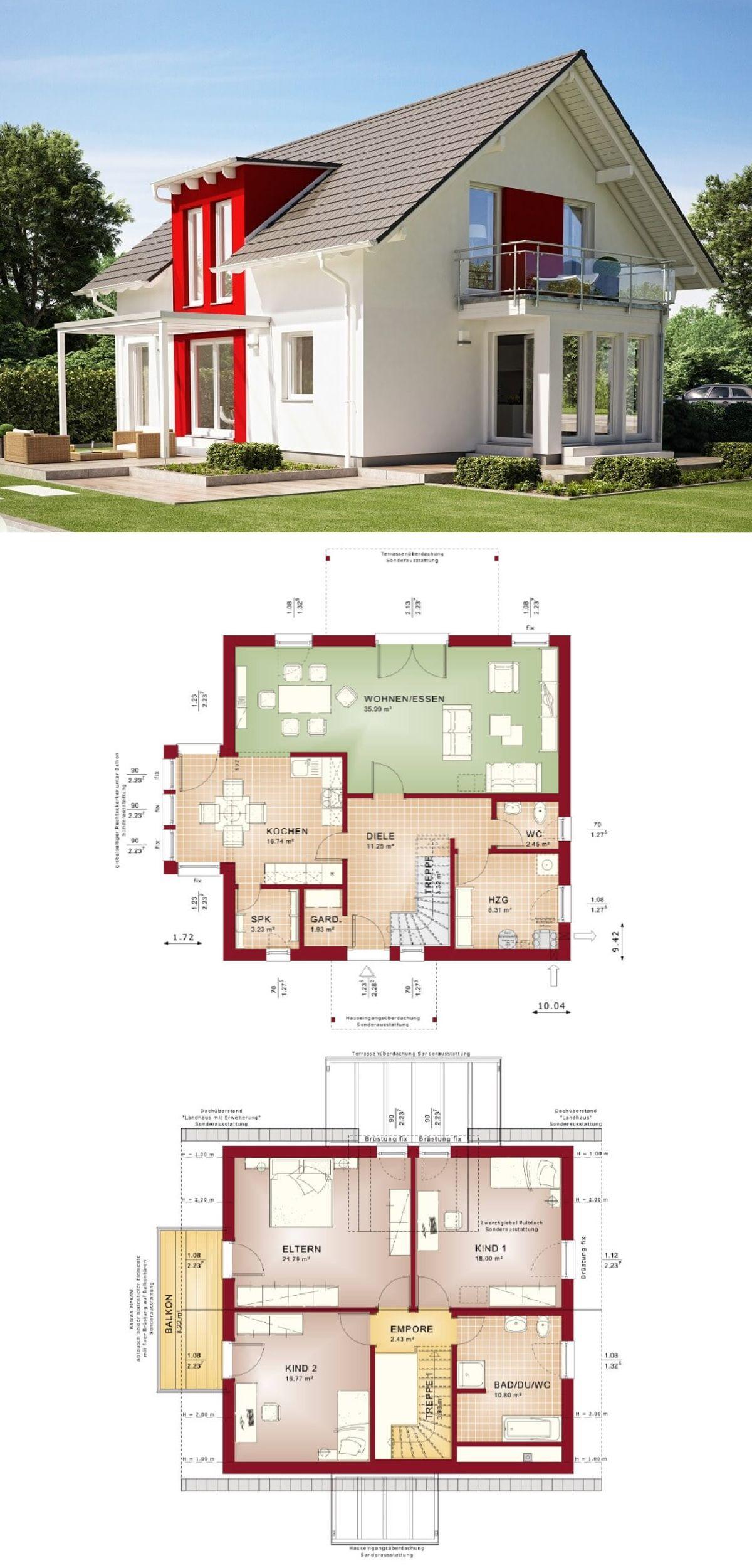 Einfamilienhaus Klassisch Mit Satteldach Architektur Erker Anbau Und
