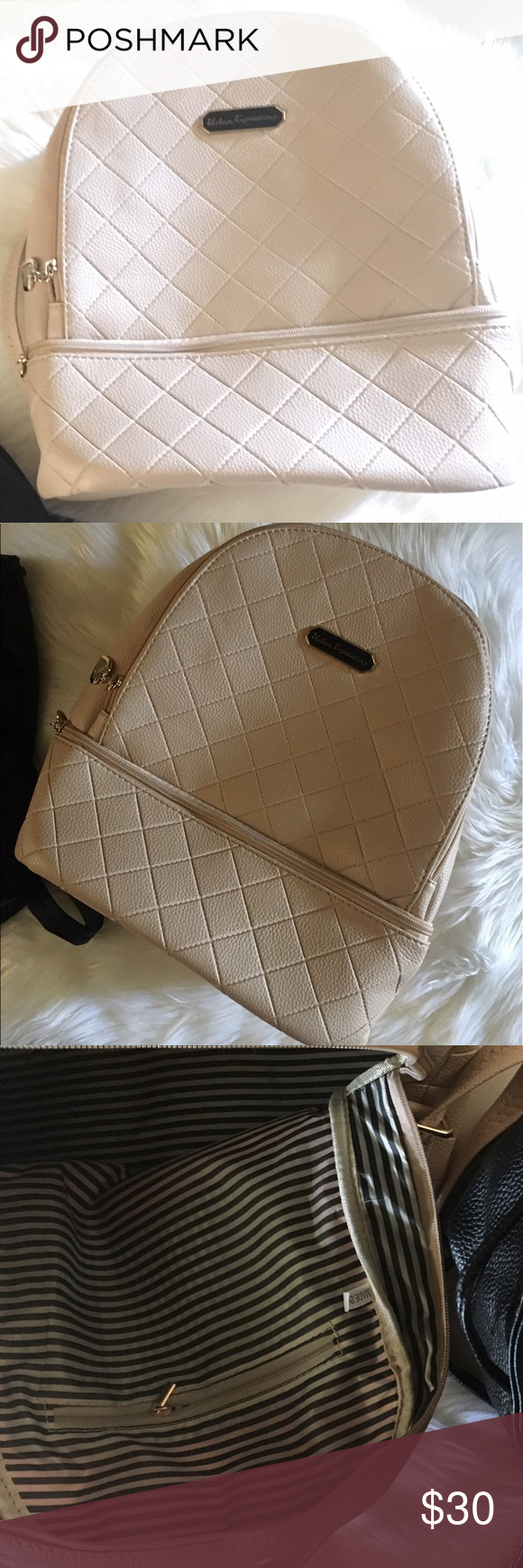 """New Faux Leather Backpack Plenty of room inside. Zipper closure. 1 slip pocket inside. Adjustable straps in the back. (NOT ZARA! just tagged for views) Dimensions H 13"""" x W 10"""" x D 12"""" inches Zara Bags Backpacks"""