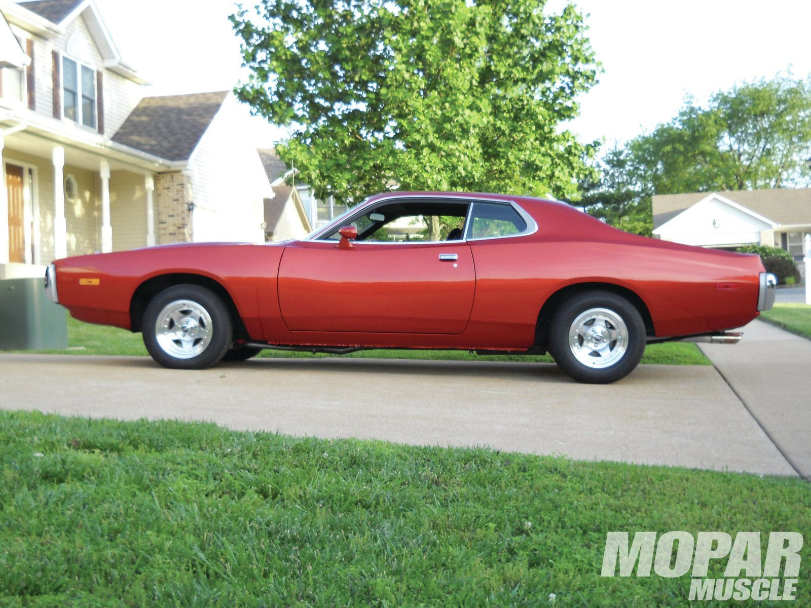 1973 Dodge Charger Red With Images Dodge Muscle Cars