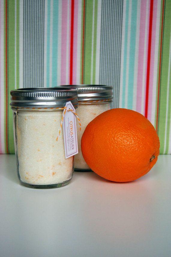 Cheerful Orange Sugar 8oz Jar Gourmet Naturally by CitrusAtelier, $7.00