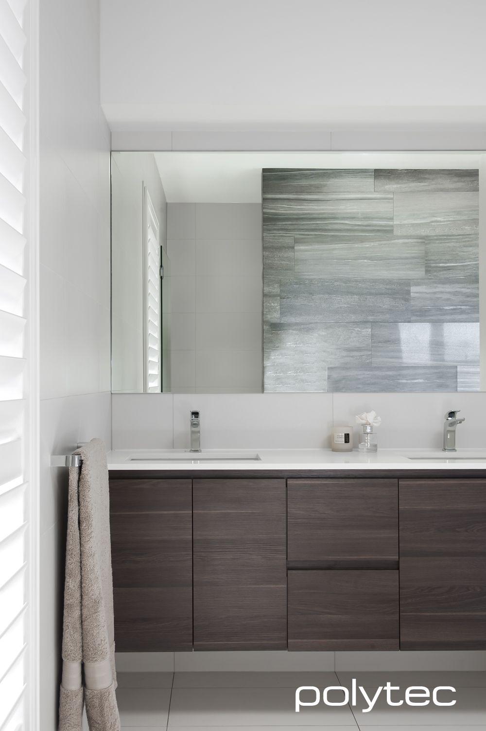 Polytec Vanity In Ravine Caf 233 Oak Modern Bathroom