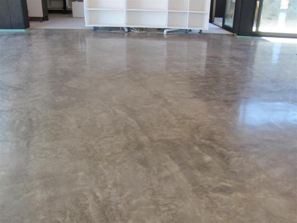 Concrete floor finishes limestone concrete exposed for Stained polished concrete floor