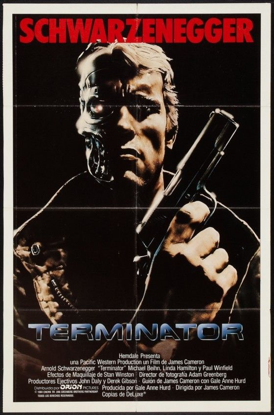 A1 The Terminator Arnold Schwarzenegger Vintage Movie Poster A2 A4 sizes A3