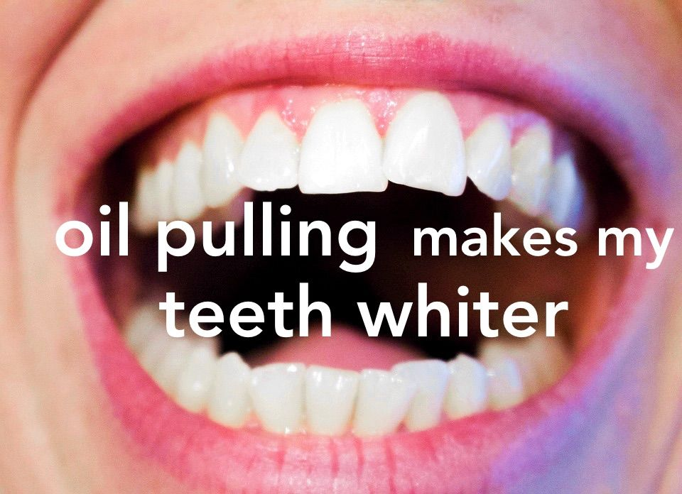 Oil Pulling Whitens My Teeth Sensitive teeth remedy, Gum