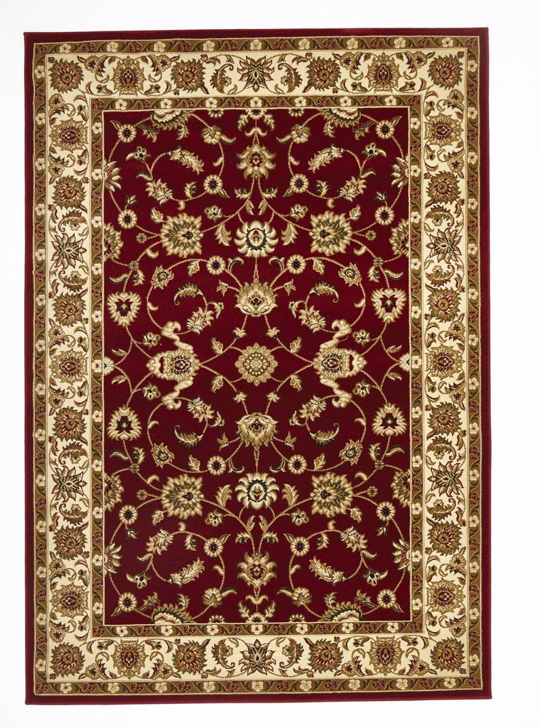 Sydney Clic Rug Red With Ivory
