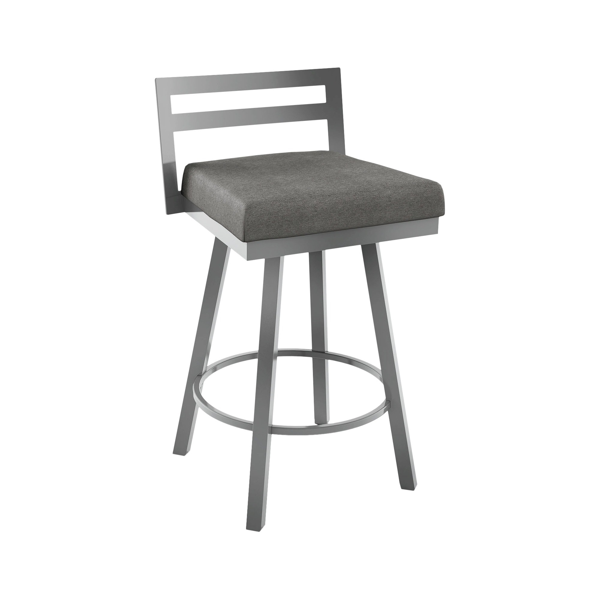 Awesome Amisco Derek 26 Counter Stool Gray Products Swivel Bralicious Painted Fabric Chair Ideas Braliciousco