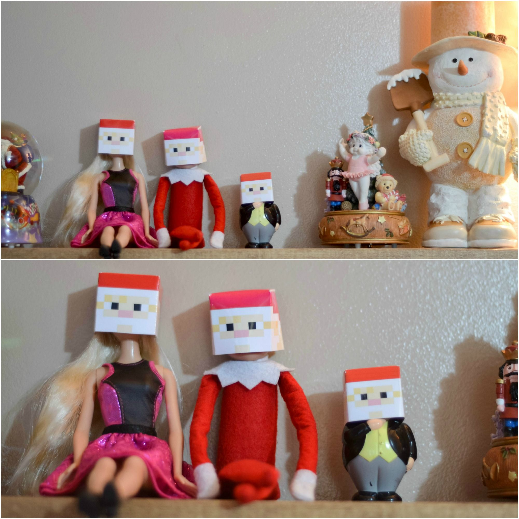 December 15, 2014 ~ Pauly recruited Sir Topham Hatt and Barbie for some Santa Minecraft antics this morning! link: http://www.alittlemooreblog.com/