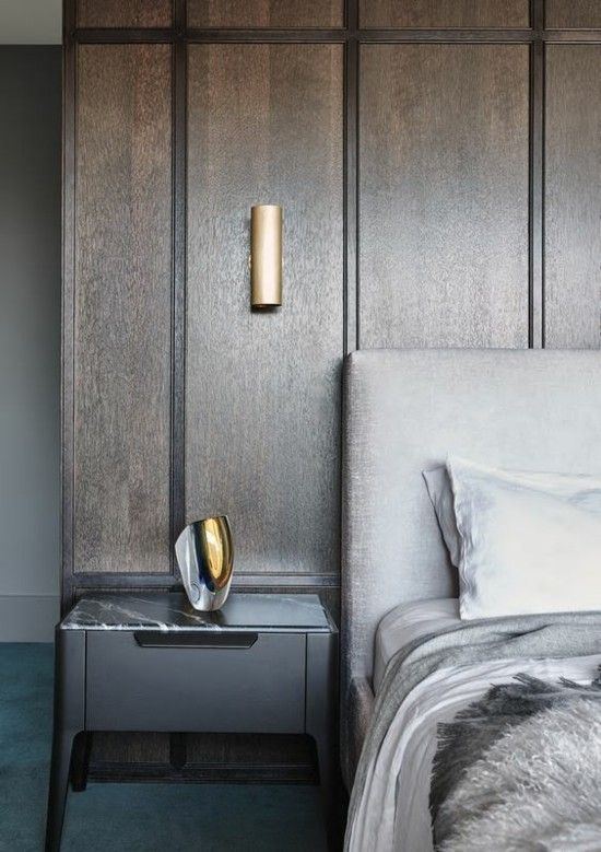 Schlafzimmer Wandverkleidung Holz Lampen Aus Metall Resized