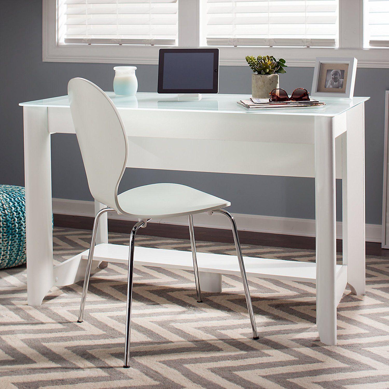 Aero Writing Desk In Pure White Kitchen Dining Scandinavian