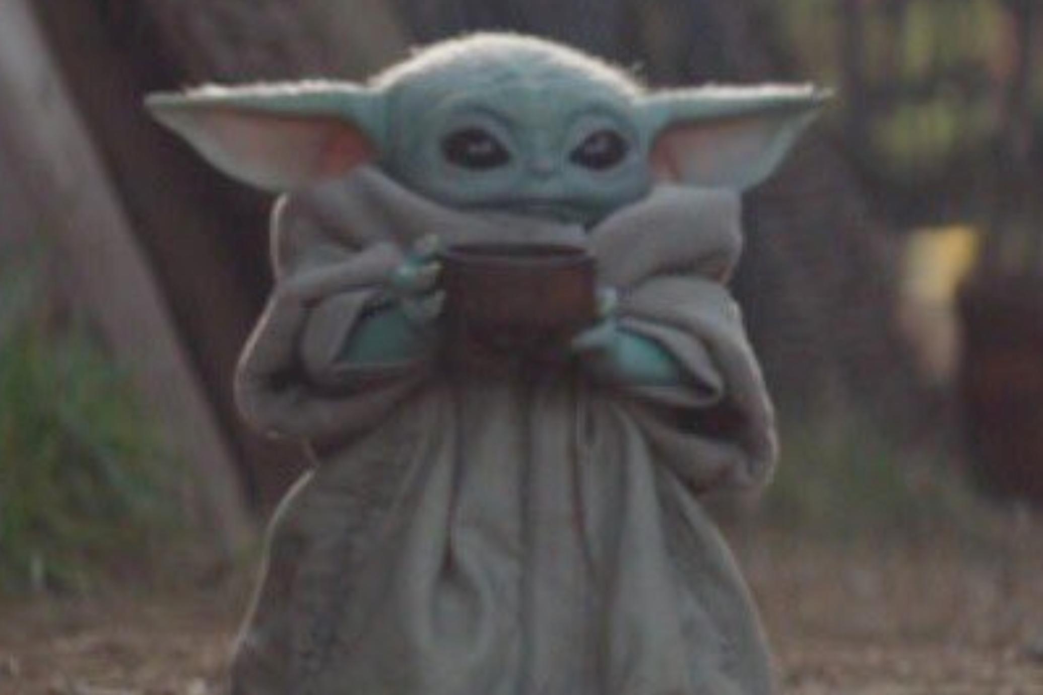 The Mandalorian S Baby Yoda Cup Meme Has Taken Over Twitter Yoda Meme Memes Tea Meme