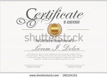 Certificate Template  Stock Vector  Graphic Design