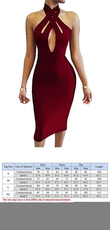 d39bd85f38 TOB Women s Sexy Halter Bodycon off Shoulder Club Dress Wine Red ...