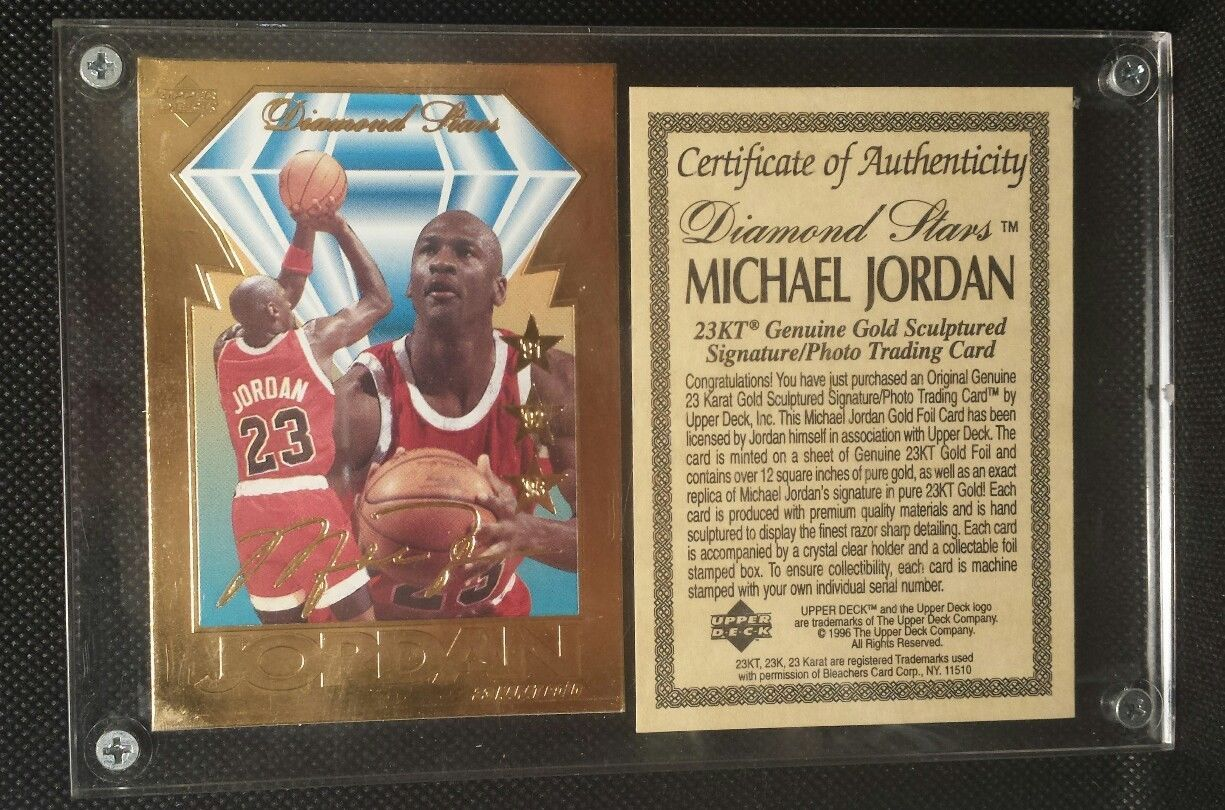 1995 upper deck michael jordan diamond stars 23 karat kt