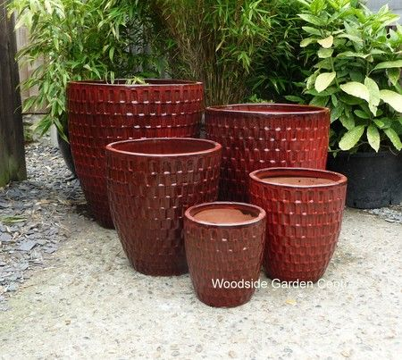 Large glazed dark red dimple garden pot woodside garden centre large glazed dark red dimple garden pot woodside garden centre pots to inspire workwithnaturefo