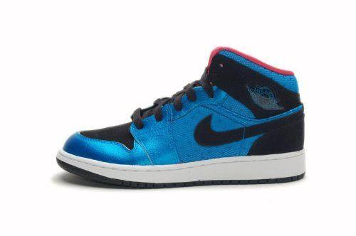 new styles a6e5a e3c4a Girls Air Jordan 1 Phat (GS) Neptune Blue - Black - Siren Red (GS 7)  74.99