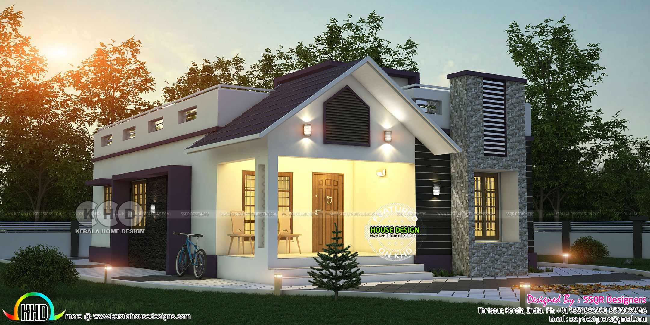Single Floor 2 Bedroom Cute Home 1980 Sq Ft Bungalow House Design House Roof Minimalis House Design