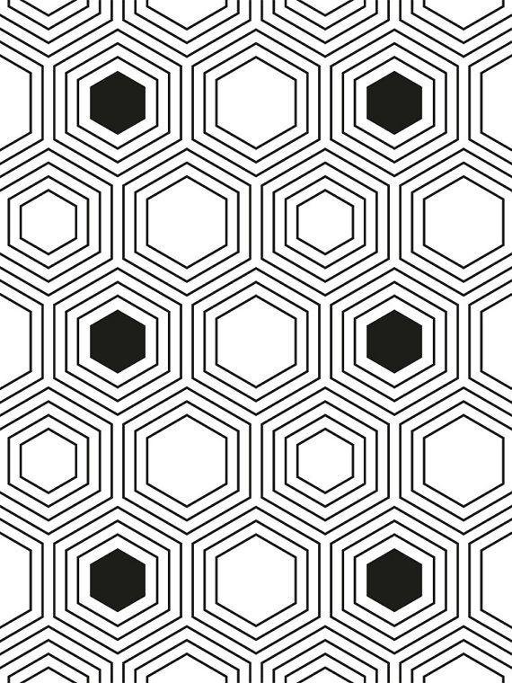 Nordic Print Laminas Nordicas Black and por Sorbetedelimonprints