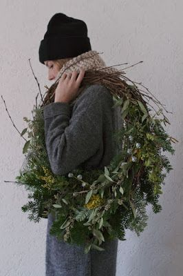 a natural Christmas Wreath