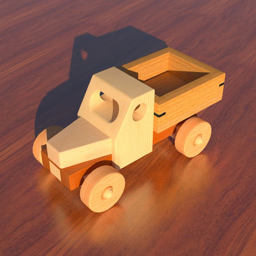 Wooden toy pickup truck woodworking plan by cmmyakman for Toy plans