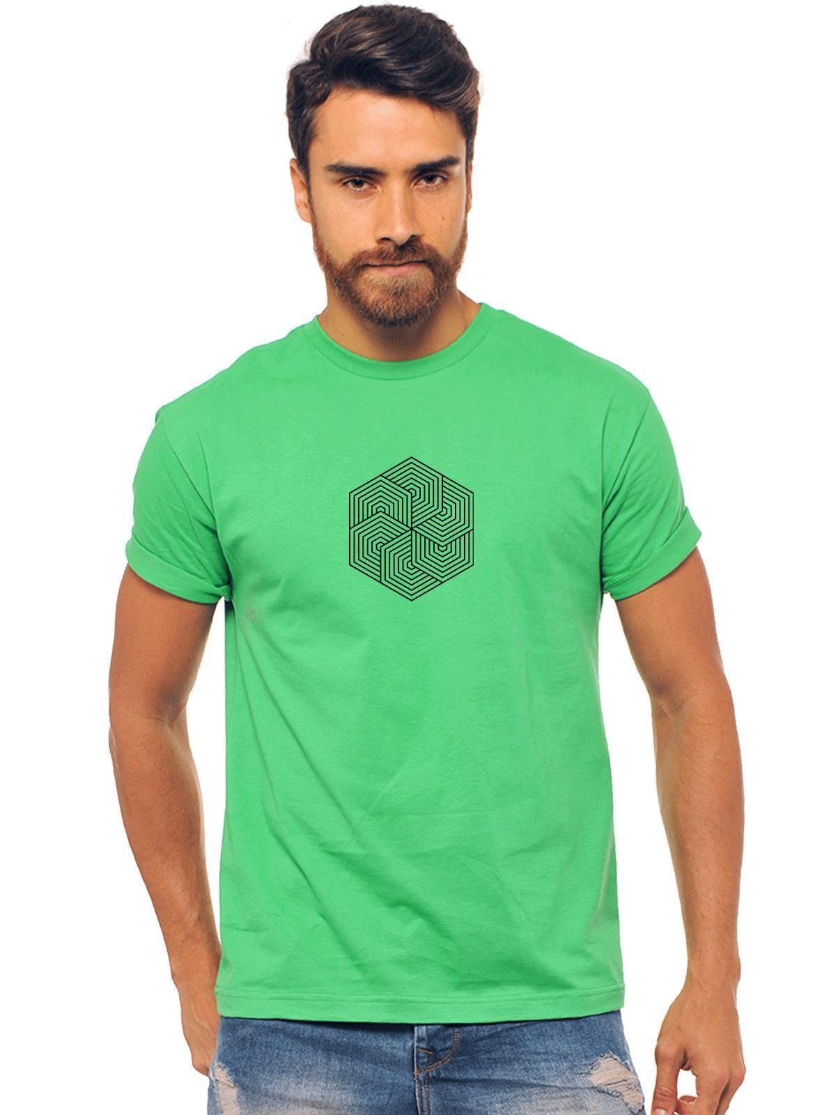 58e774a22 Camiseta Verde Estampada Masculina Joss - Flor Doida - CAMISETA VERDE  ESTAMPADO MASCULINO JOSS