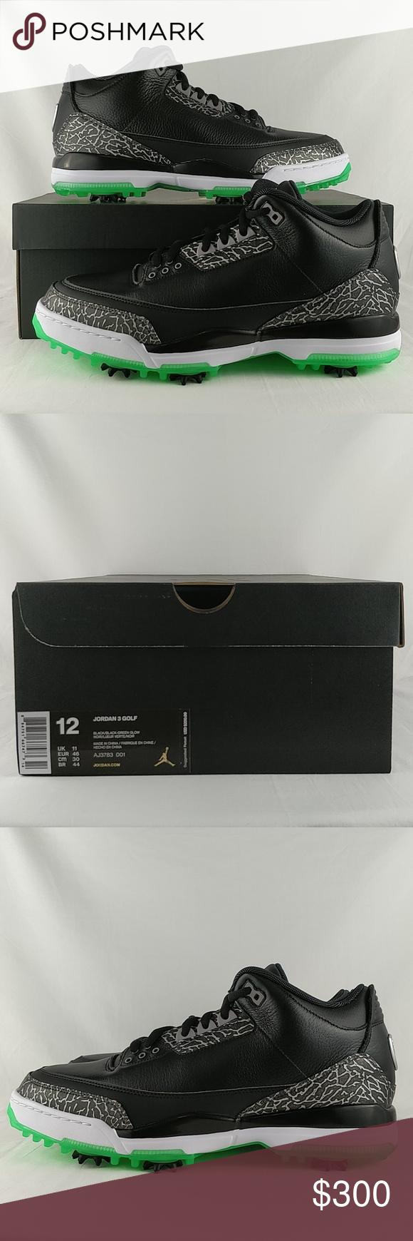 e88792c4b545 Nike Jordan 3 Golf Shoe Green Glow Men s Size 12 Nike Jordan 3 Golf Shoe