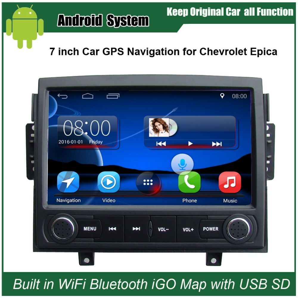 Upgraded Original Android Car Radio Player Suit To Chevrolet Epica 2006 2010 Car Video Player Built In Wifi Gps With Images Radio Player Car Radio Gps Navigation