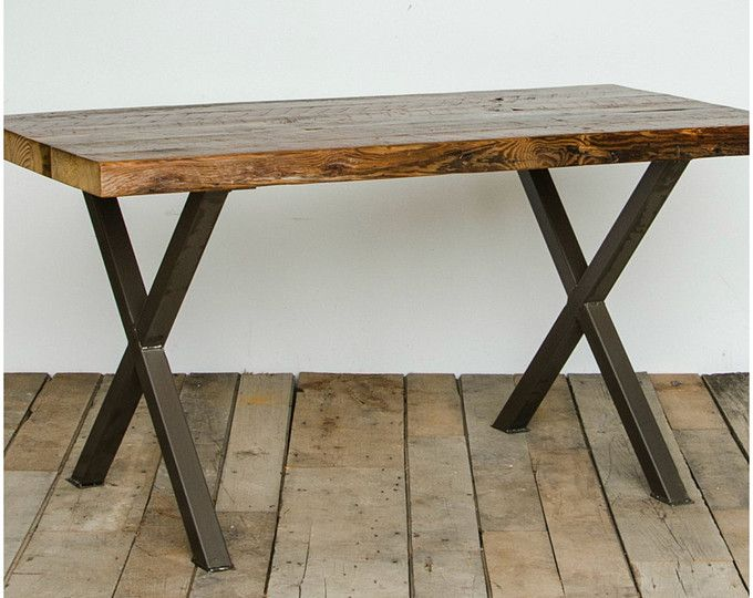 Urban Wood Goods Rustic Dining Table Reclaimed Wood Table