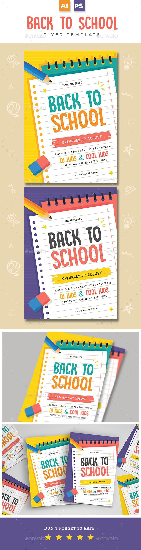 Back To School Flyer | School, Flyer template and Event flyers
