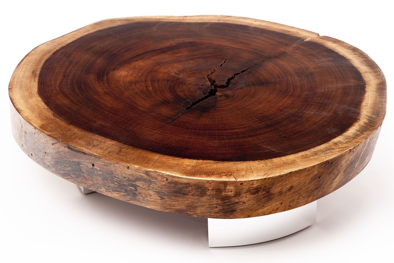 moderner Couchtisch aus wiederverwendetem Holz BOLACHA - ALUMINIUM ...