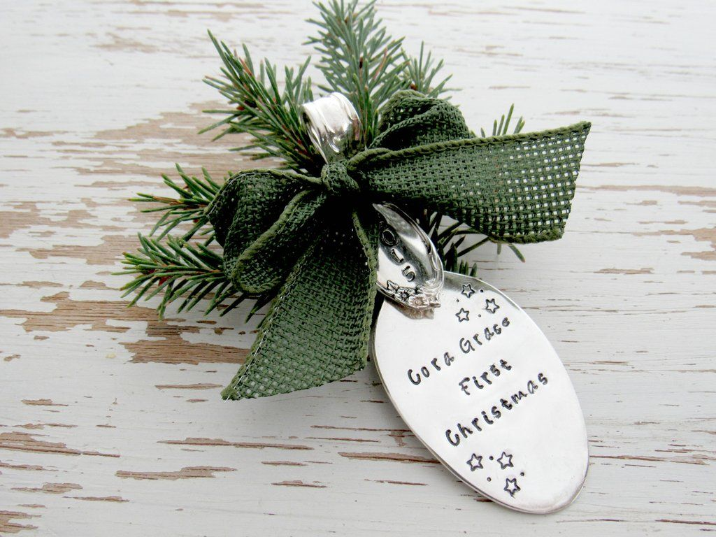 New baby christmas ornament - First Christmas 2016 Spoon Ornament New Baby 1st Christmas Ornament Baby Shower Gift