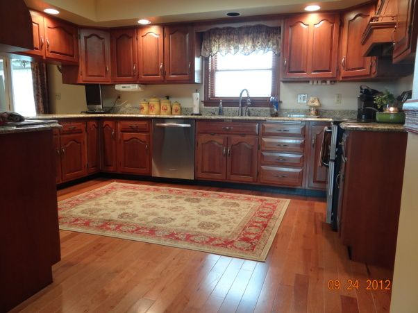 Hardwood Floors In Kitchen Rugs For