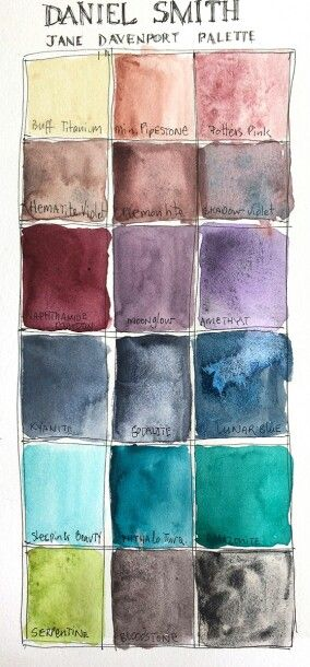 Daniel Smith Watercolor Palette : daniel, smith, watercolor, palette, Daniel, Smith, Watercolors, Davenport, Palette, Watercolor, Pallet,, Watercolors,, Mixing