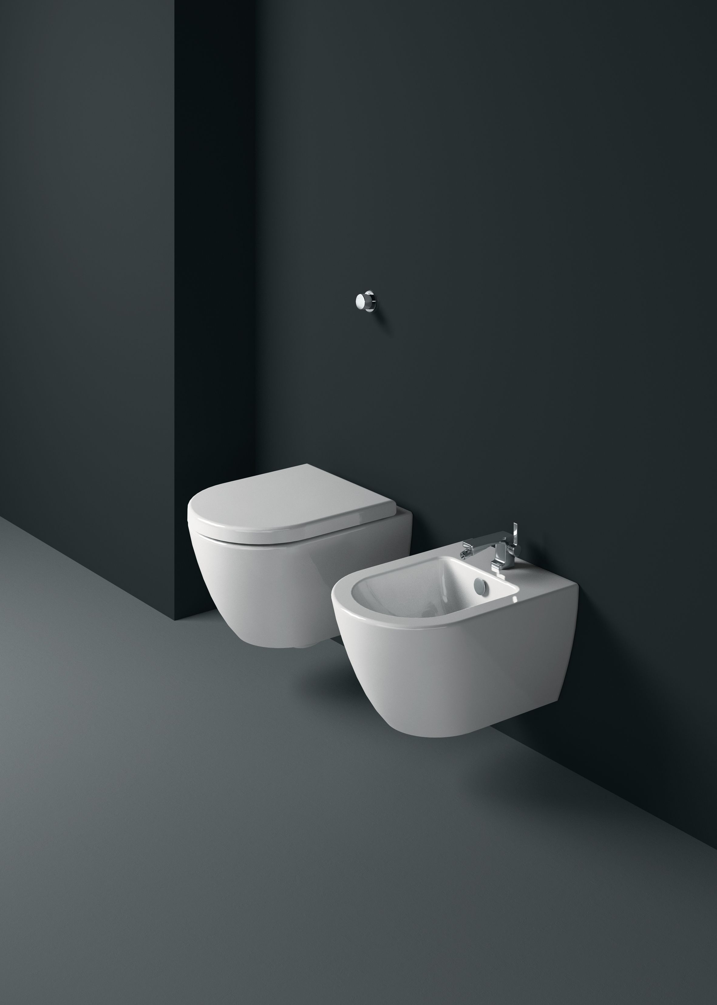 Bathroom Ware Gsi Ceramic Pura Wall Hung Sanitary Ware 50x36 Cm
