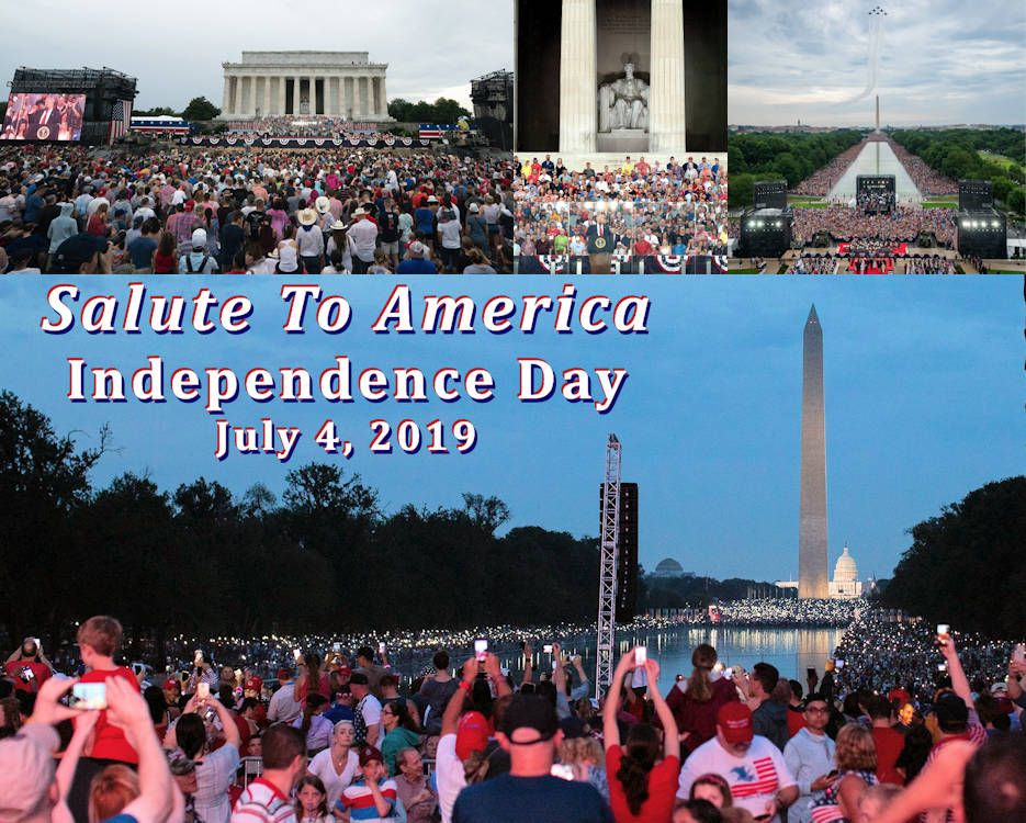 The 'Salute To America' public event on July 4, 2019
