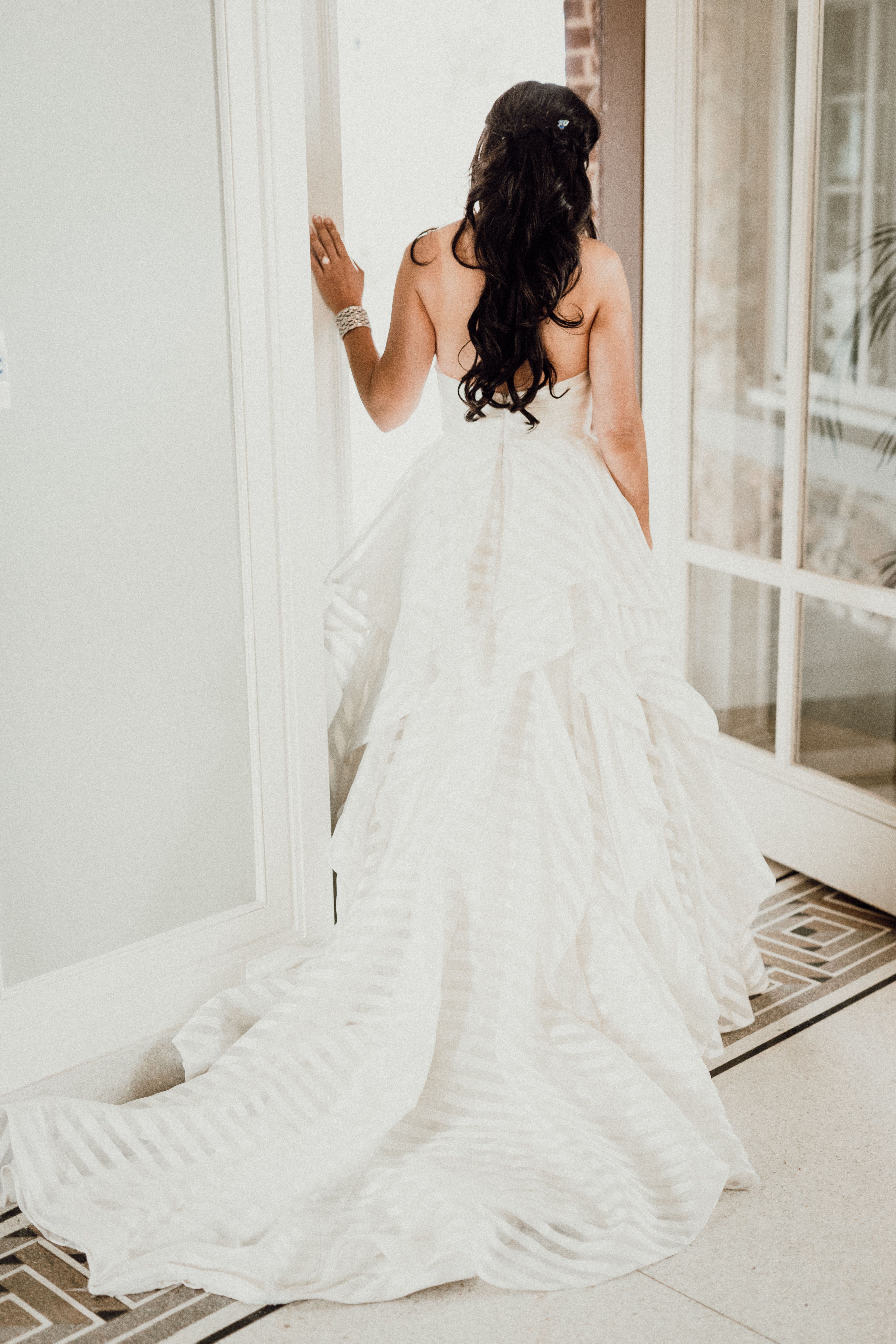 My Hayley Paige Guindon striped wedding gown 💖 | us | Pinterest ...